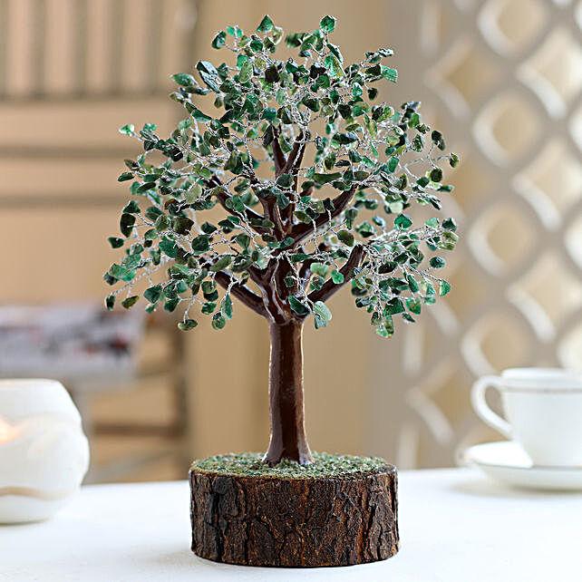 "Green Aventurine Gemstone Wishing Tree 12.5"": Send Christmas Trees"