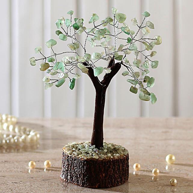 "Green Calcite Gemstone Wishing Tree 7.5"": Send Christmas Trees"