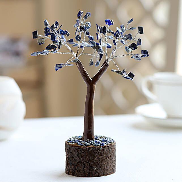 "Lapis Lazuili Gemstone Wishing Tree 7.5"": Christmas Tree"