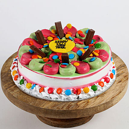 Colourful New Year Cake: Gifts to Rampur