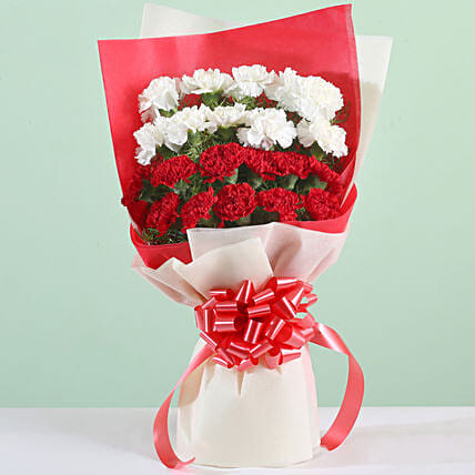 Carnations Love Bouquet: Send Flower Bouquets