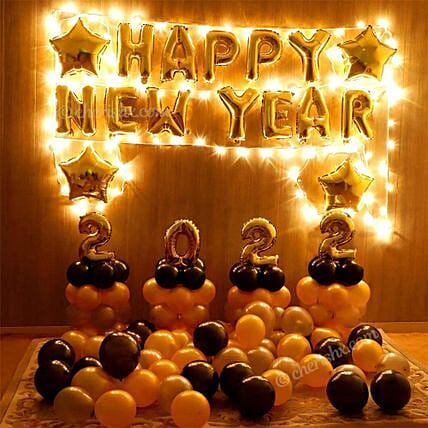 New Year Balloon Decor: Decoration Services in Hyderabad