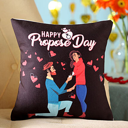 Proposing Her Printed Cushion: Propose Day Gifts