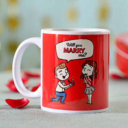 Marry Me Printed Mug: Buy Coffee Mugs