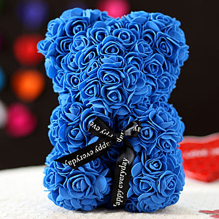 Foam Teddy Bear- Blue: Best Gifts to India