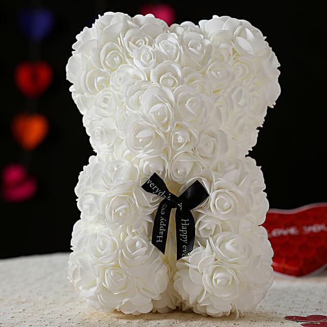 Foam Teddy Bear- White: Soft Toys Gifts