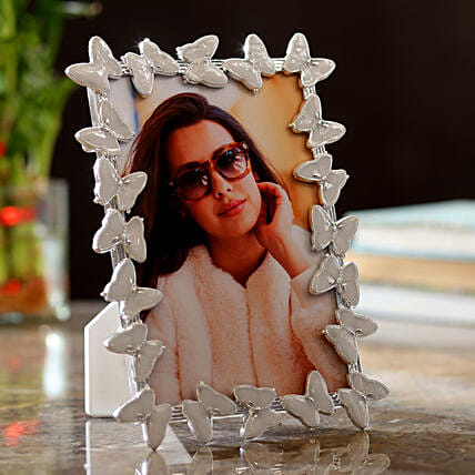 Personalised Butterfly Photo Frame: Personalised Photo Frames Gifts