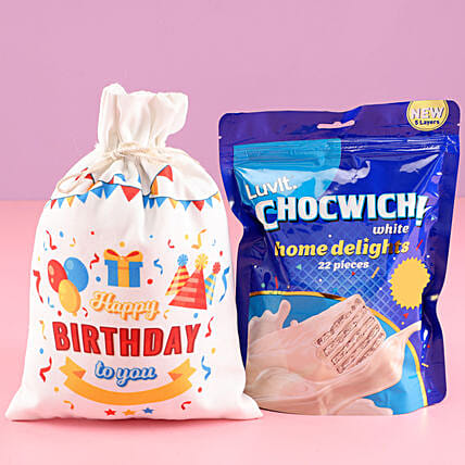 Birthday Gunny Bag Of Chocolates: Best Gifts to India