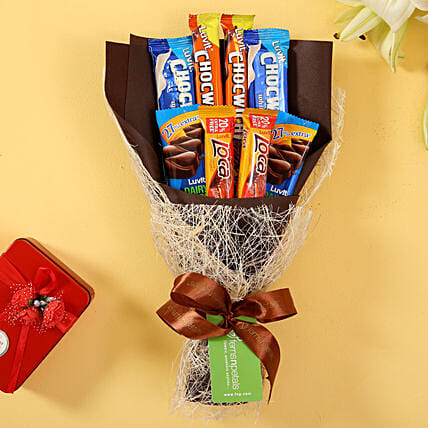 LuvIt Chocolaty Bouquet: Send Chocolate Bouquet