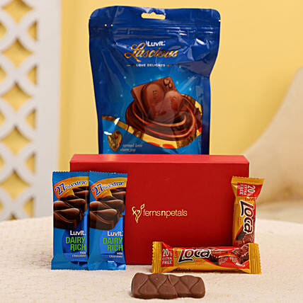 Yummy Chocolates In FNP Box: Gift Hampers