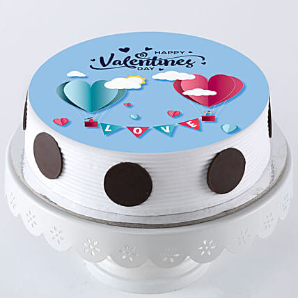 Hearts In Love Photo Cake: Valentines Day Gifts for Husband