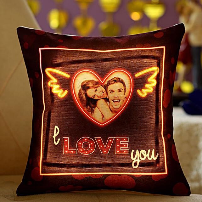 I Love You Personalised LED Cushion:
