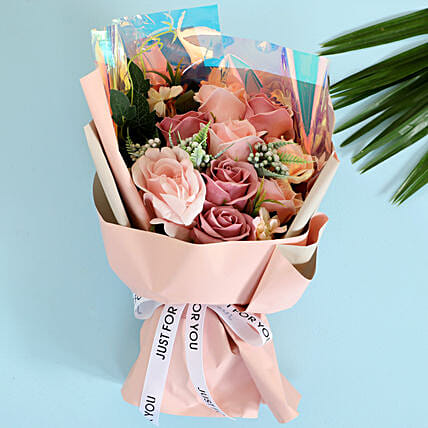 Pink Artificial Flower Bouquet: Artificial Flowers