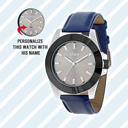 Personalised Black & Grey Watch For Him: Personalised Watches
