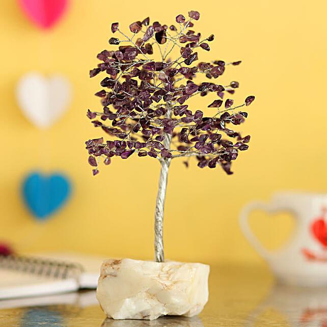 Purple Amethyst Stone Wish Tree: Wish Trees