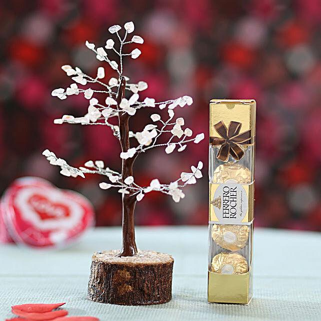 Rose Quartz Wish Tree & Ferrero Rocher: Buy Christmas Combos
