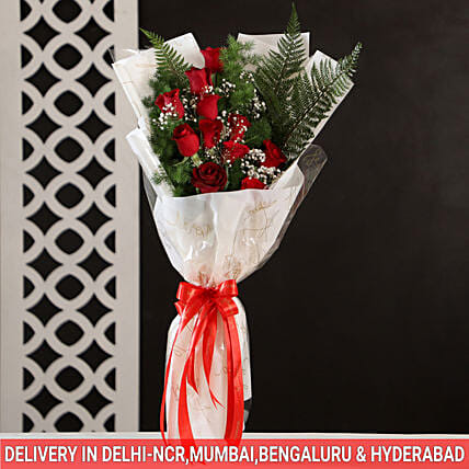 Red Roses Bouquet: Exotic Flowers