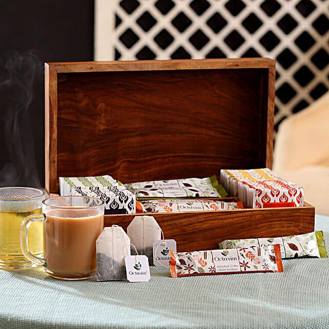 Premium Tea Assortment Hamper: Womens Day Gift Hampers