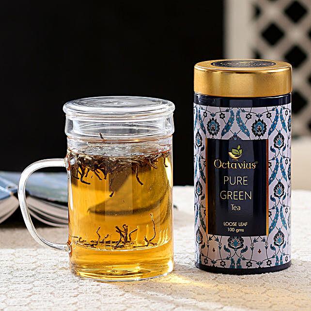 Tea Infuser Cup and Green Tea Hamper: Gift Hampers