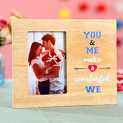 You & Me Personalised Photo Frame: Personalised Photo Frames Gifts