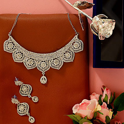 Silver Plated V-Day Combo: Send Roses