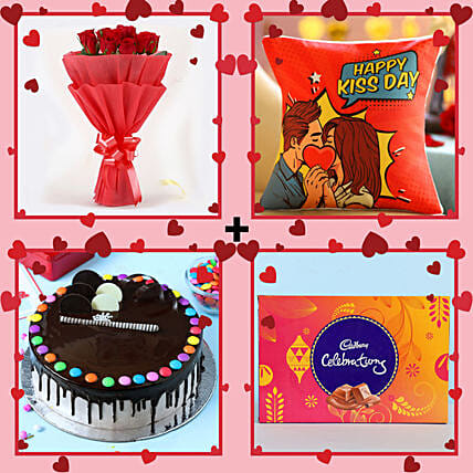 Lovely Combo For Kiss Day: Kiss Day Gifts