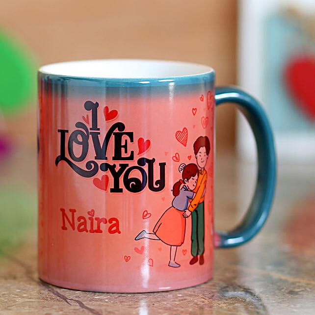I Love You Green Magic Mug: Custom Photo Coffee Mugs