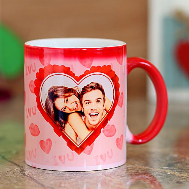 Heart Red Magic Mug: Personalised Mugs
