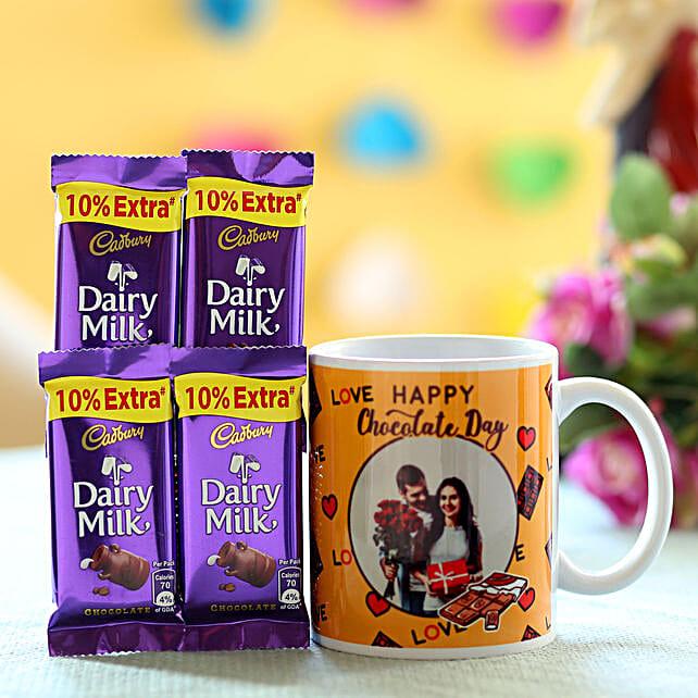 Chocolate Day Personalised Mug Combo: Personalised Mugs