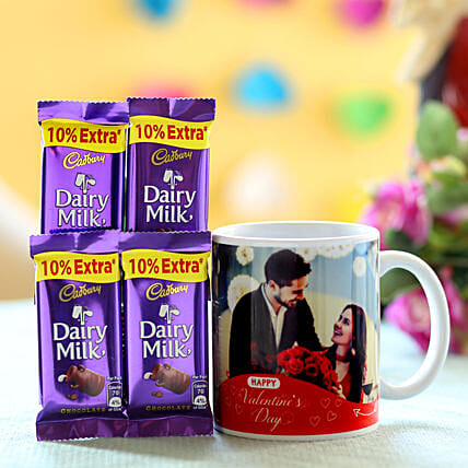 Personalised Mug & Chocolates For V-Day: