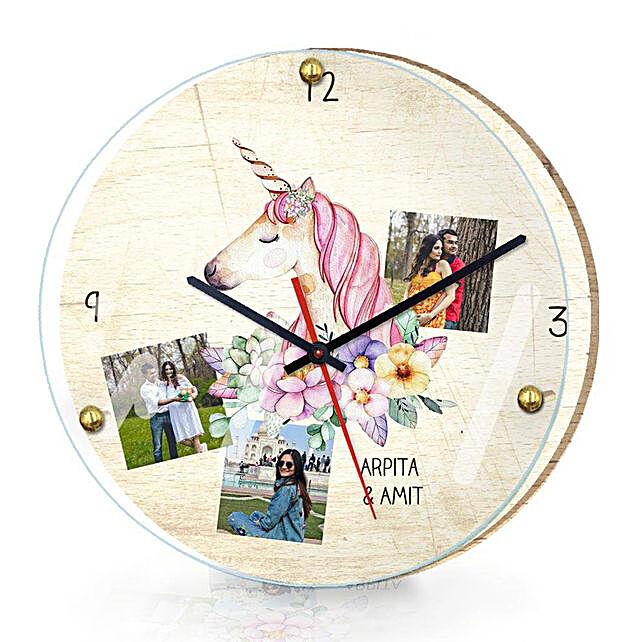 Personalised Unicorn Wall Clock: Personalised Clocks