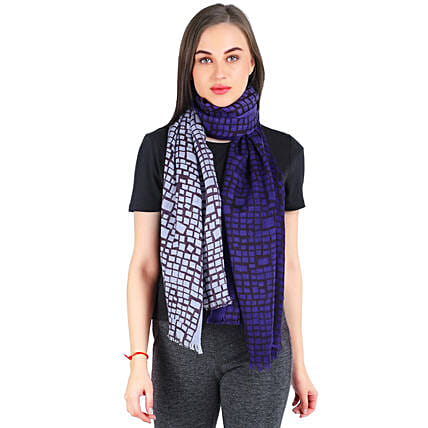 Personalised Check Design Silk Wool Scarf: Apparel Gifts