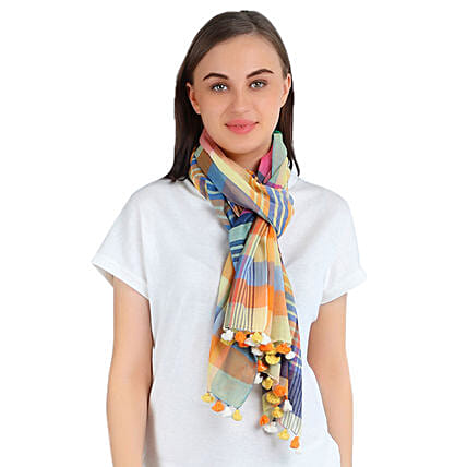Stylish Personalised Cotton Scarf: Apparel Gifts