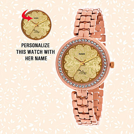 Personalised Classic Rosegold Watch: Personalised Watches
