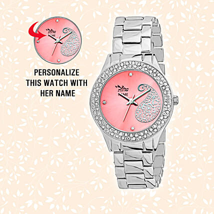 Personalised Pretty Pink Dial Watch: Personalised Watches