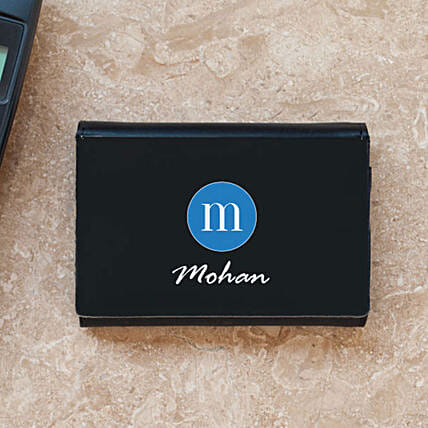 Personalised Initial & Name Business Card Case: