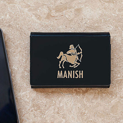 Personalised Zodiac Sign Business Card Case: Personalised Stationery