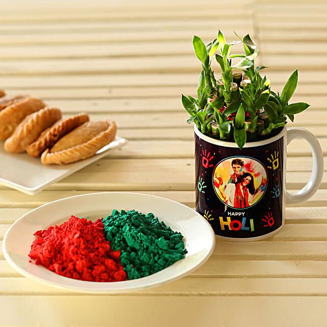 2 Layer Bamboo In Personalised Holi Mug: Holi Gifts