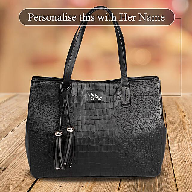 Classic Black Hand Bag: Handbags and Wallets