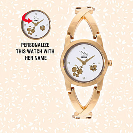 Personalised Butterfly Dial Watch: Accessories