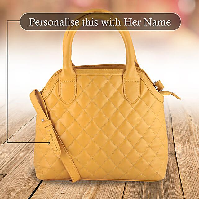 Suave Mustard Hand Bag: Handbags and Wallets Gifts