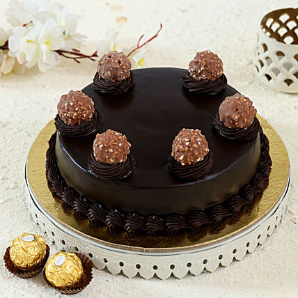 Ferrero Rocher Truffle Cake: Fathers Day Gift Delivery