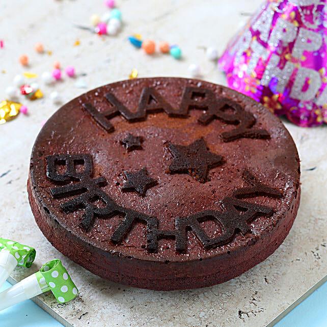 Red Velvet Birthday Dry Cake- 1 Kg Eggless: Buy Eggless Cakes