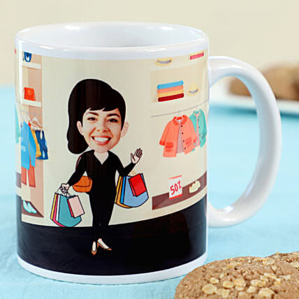 Caricature Personalised Office Mug: Custom Photo Coffee Mugs