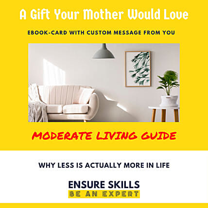 Moderate Living E-Book Card: Mothers Day Gifts