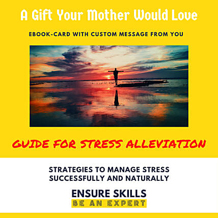 Stress Alleviation Guide E-Book Card: Gifts for Mothers Day