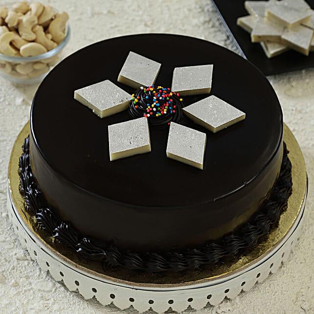 Chocolate Kaju Katli Cake: Gift For Karwa Chauth