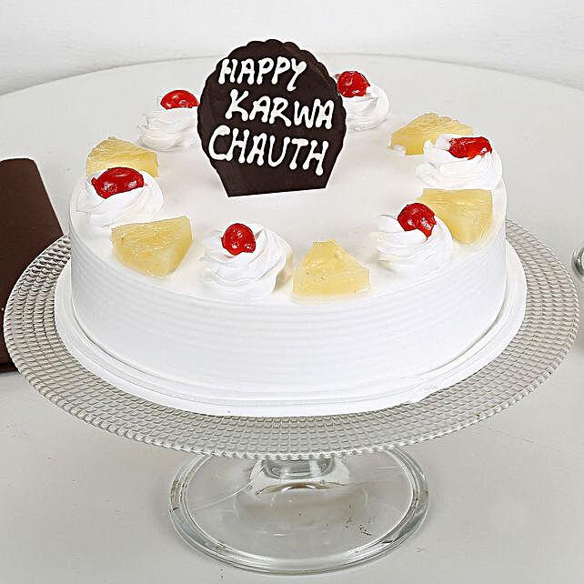 Karwa Chauth Pineapple Cake: Karwa Chauth Gifts