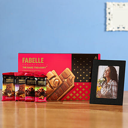Combo of Fabelle Bars Treasury Personalised Photo Frame: Karwa Chauth Gifts