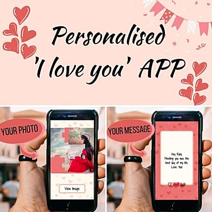 Personalised I Love You APP: Valentines Day Gifts